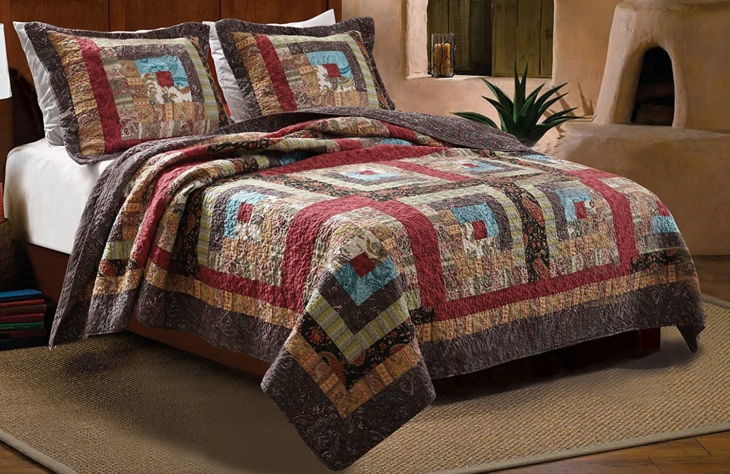 Greenland Home 3-Piece Colorado Cabin Quilt Set, King
