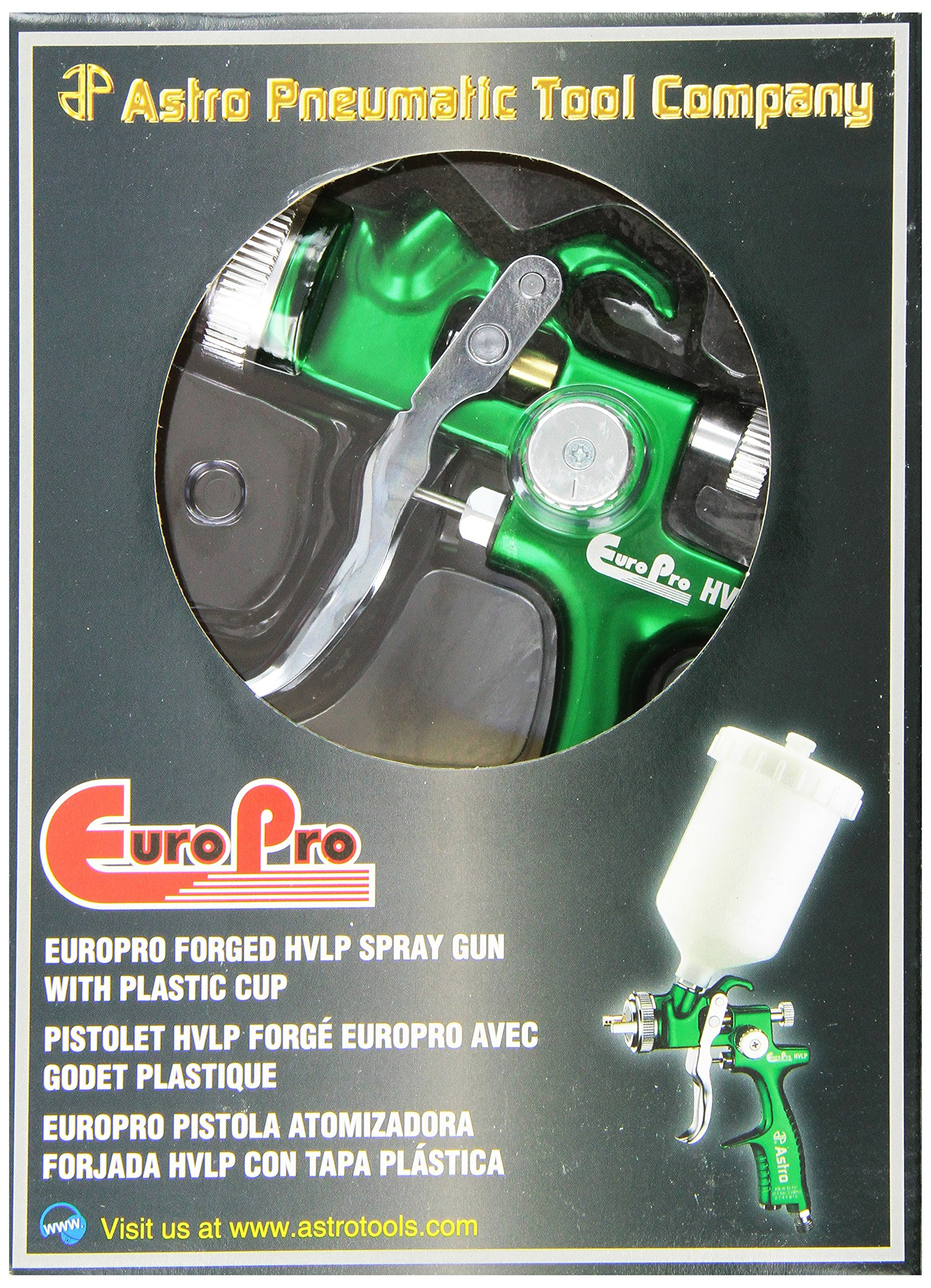 Astro EUROHV103 EuroPro Forged HVLP Spray Gun with 1.3mm Nozzle and Plastic Cup by Astro Pneumatic Tool (Image #2)