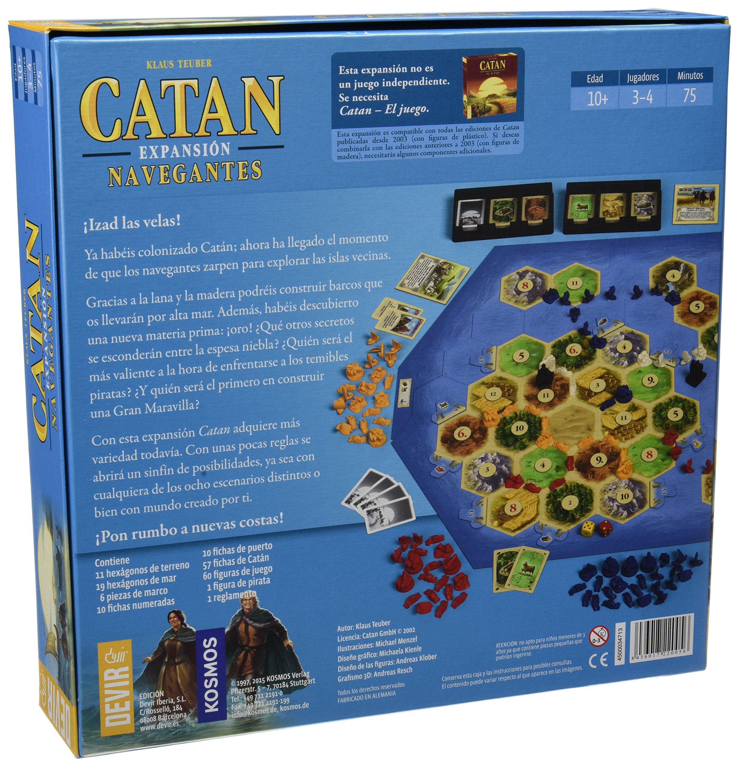 Comprar Devir - Catan, expansión Navegantes, juego de mesa (BGNAVEGANTES)