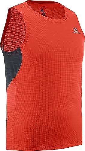 SALOMON Agile Camiseta sin Mangas, Hombre: Amazon.es: Ropa y accesorios