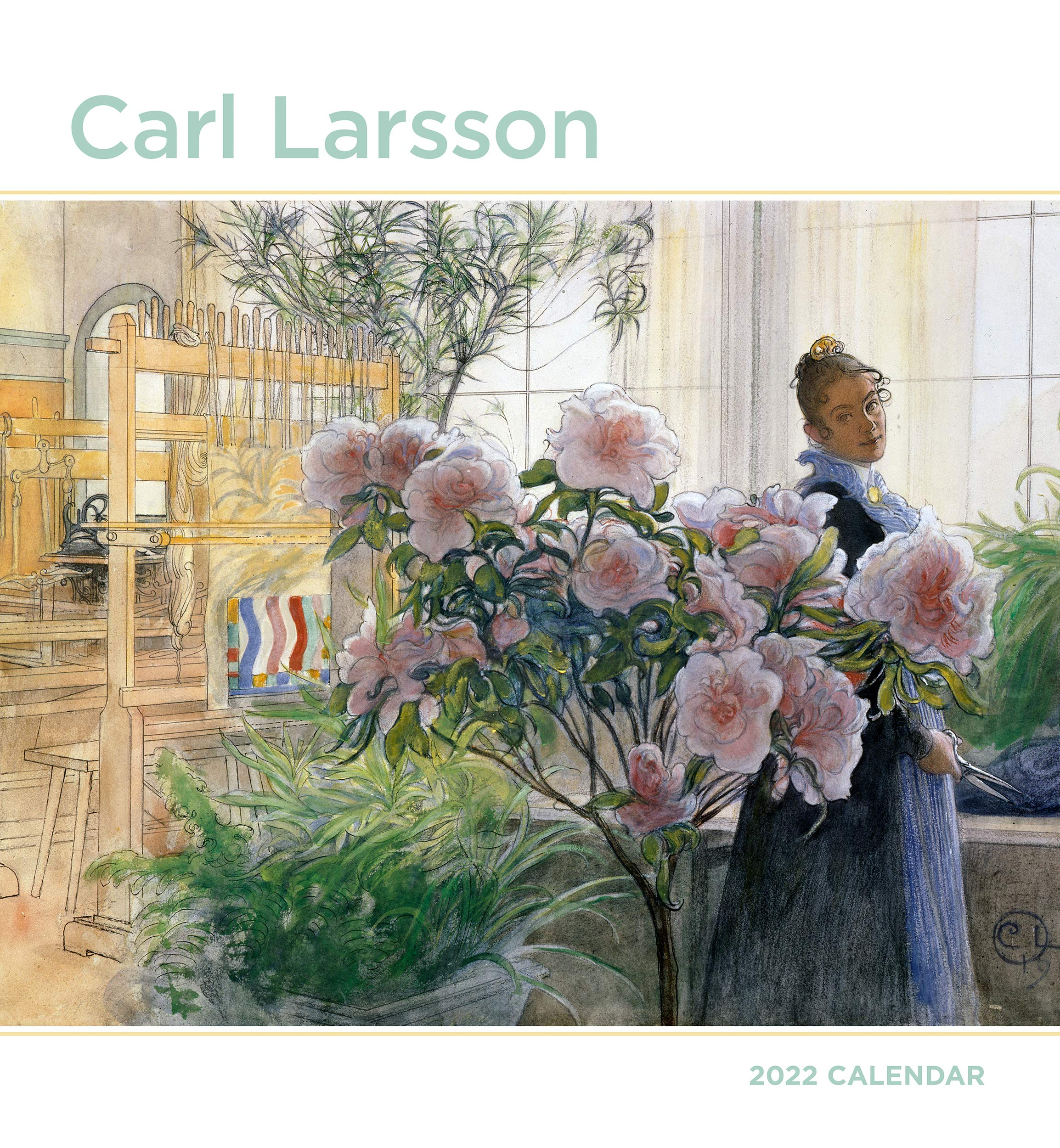 Carl Larsson 2022 calendar with watercolor painting prints inside to frame