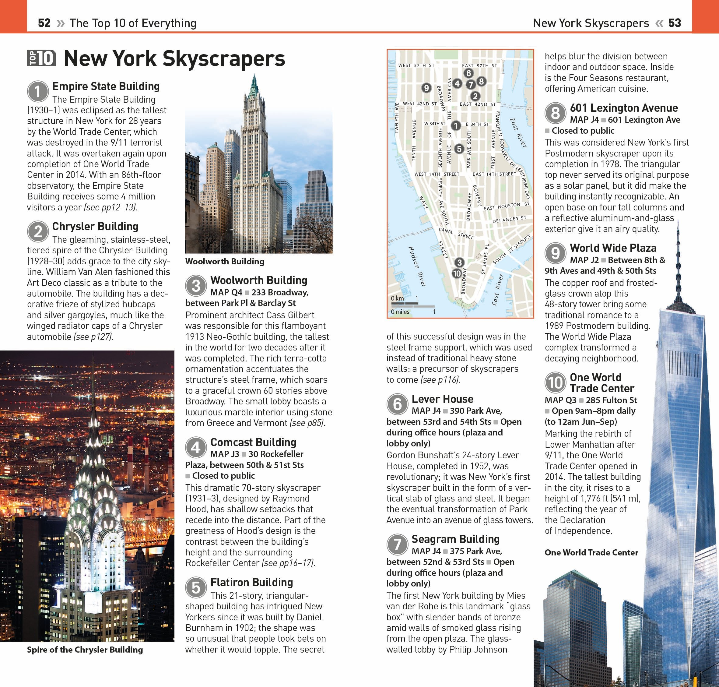Top  New York City Eyewitness Top  Travel Guide DK - Nyc map empire state building
