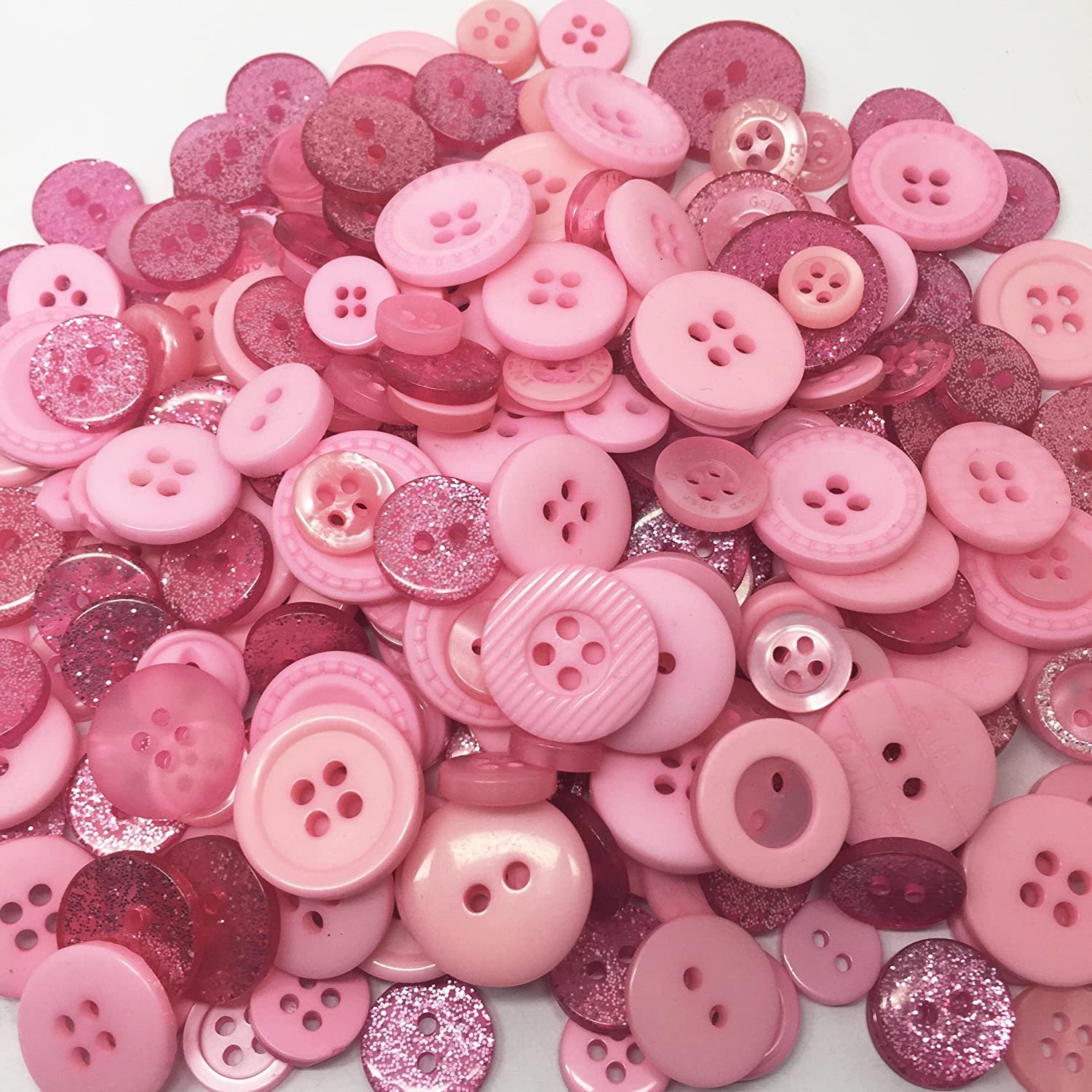 Roseys Craft Shop Light Blue Exclusive Glitter Deluxe Embellishment Button Collection-100g Of Crafty Buttons.11 Ranges.