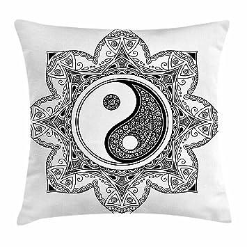 Amazon.com: Ying Yang Throw almohada cojín cubierta por ...