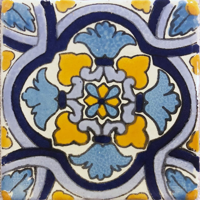 NOT Stickers 9 Pieces Ceramic Talavera Mexican Tile 4x4 EX-30 DRT Wholesales A1 Export Quality