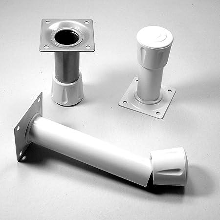 Stuhlf/üsse M/öbelf/üsse mit 40 mm Durchmesser 4 St/ücke ajile Fusskappe Rohrkappe aus Verst/ärktem Vulkanisiertem Gummi WEISS f/ür Tisch EVS240x4-FBA