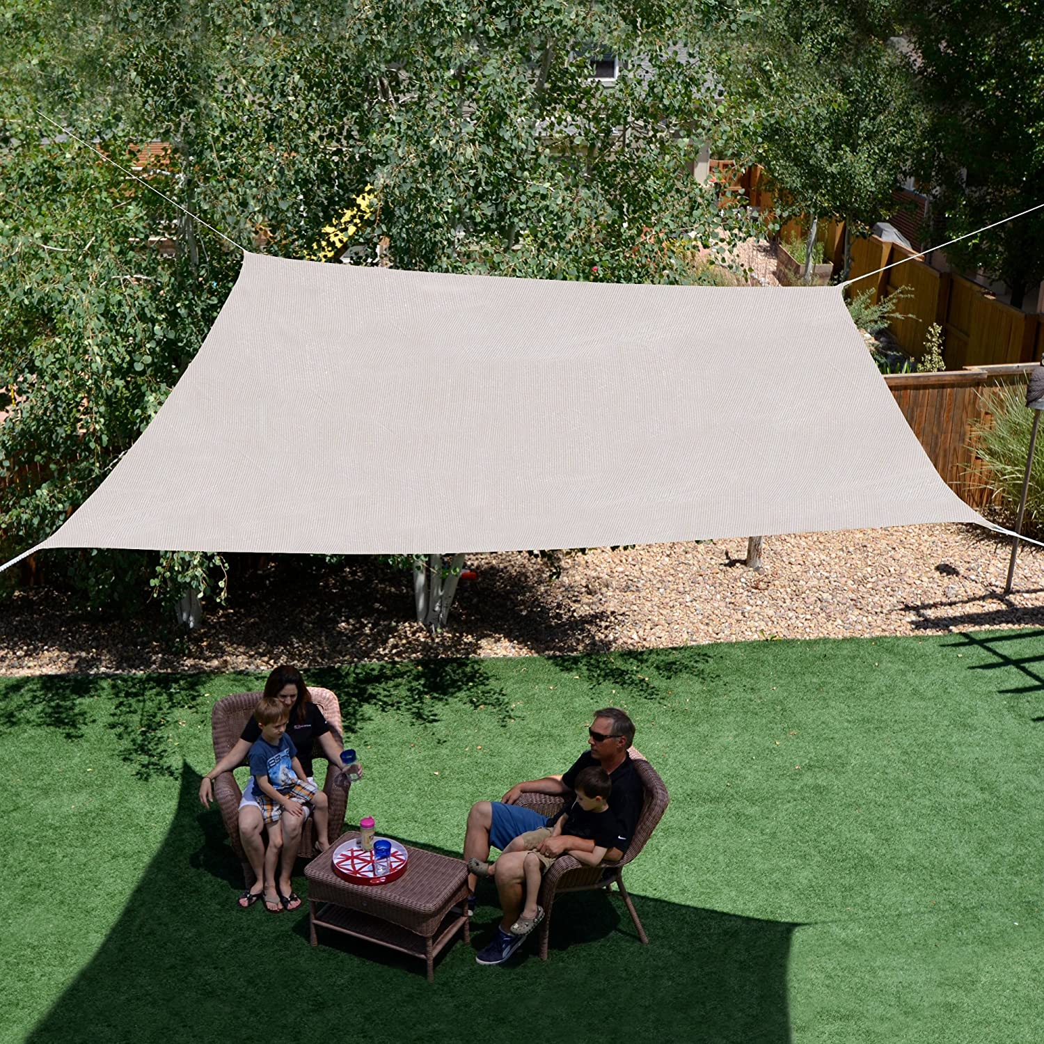 Sol Armor 10-ft Square Shade Sail, Monterey
