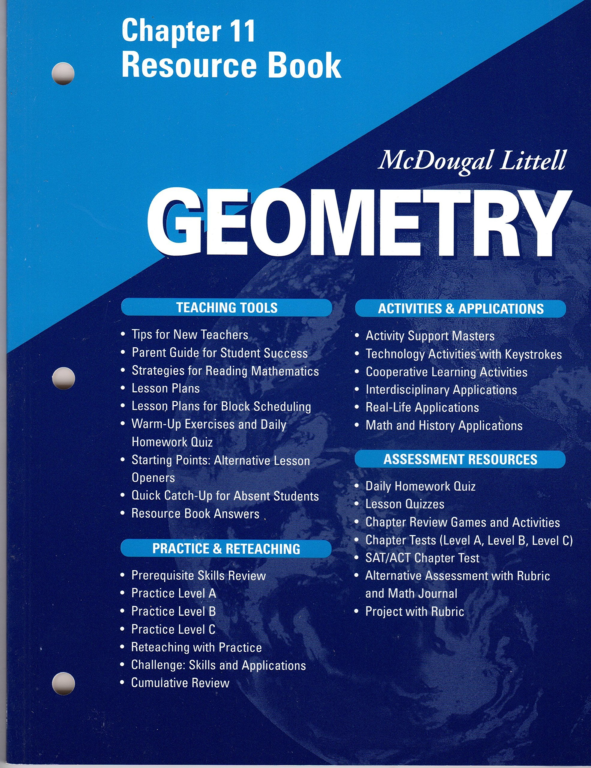 worksheet Geometry Worksheet Answers Mcdougal Littell mcdougal littell geometry chapter 11 resource book littel 9780618020744 amazon com books