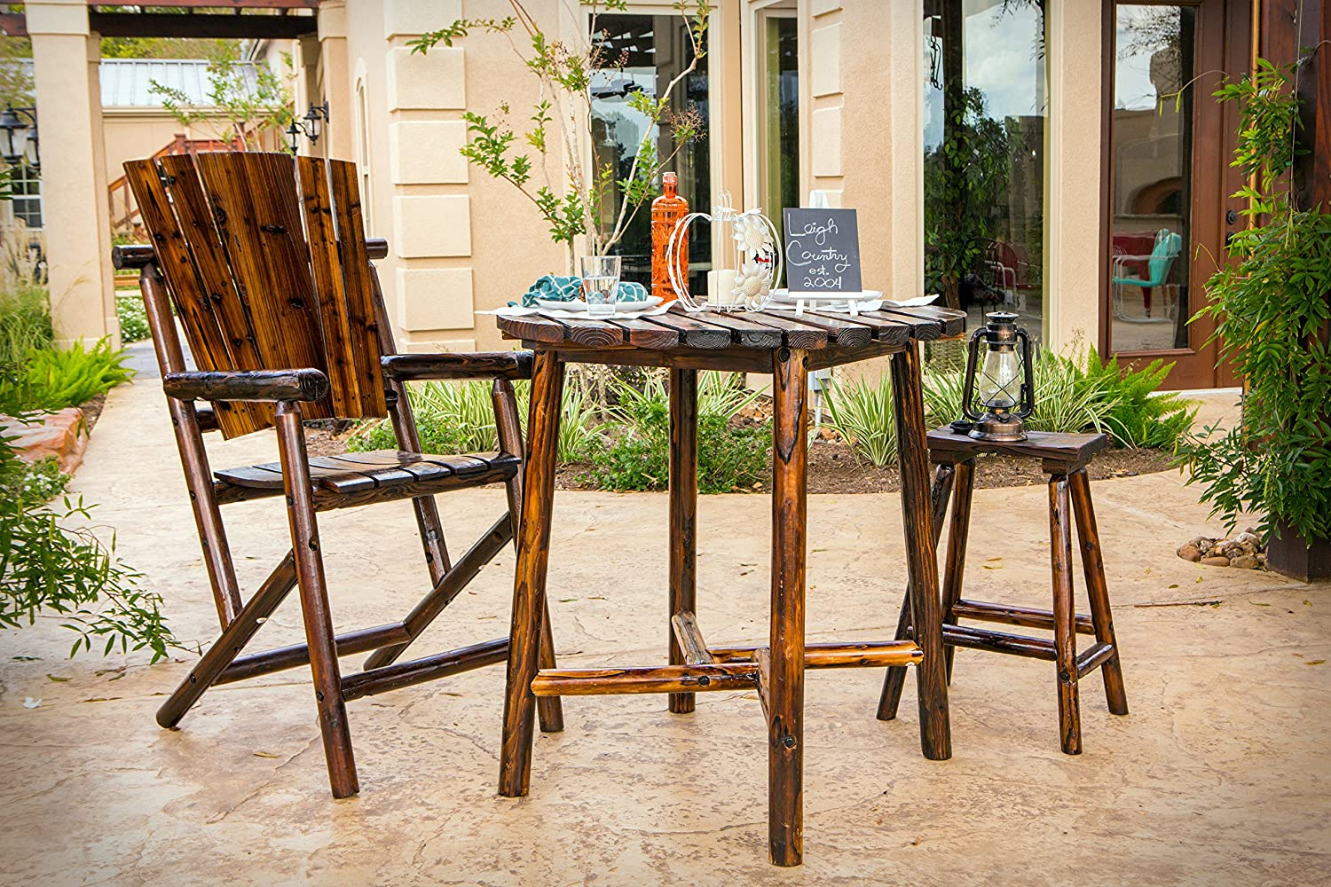Christopher Knight Home 302811 Dominica Outdoor Bar Set, Multibrown