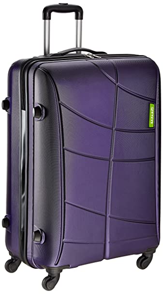 04cad68f3f Safari Polycarbonate 55 cms Purple Suitcases (VIVID-PLUS-77-New-Purple-4WH)   Amazon.in  Bags