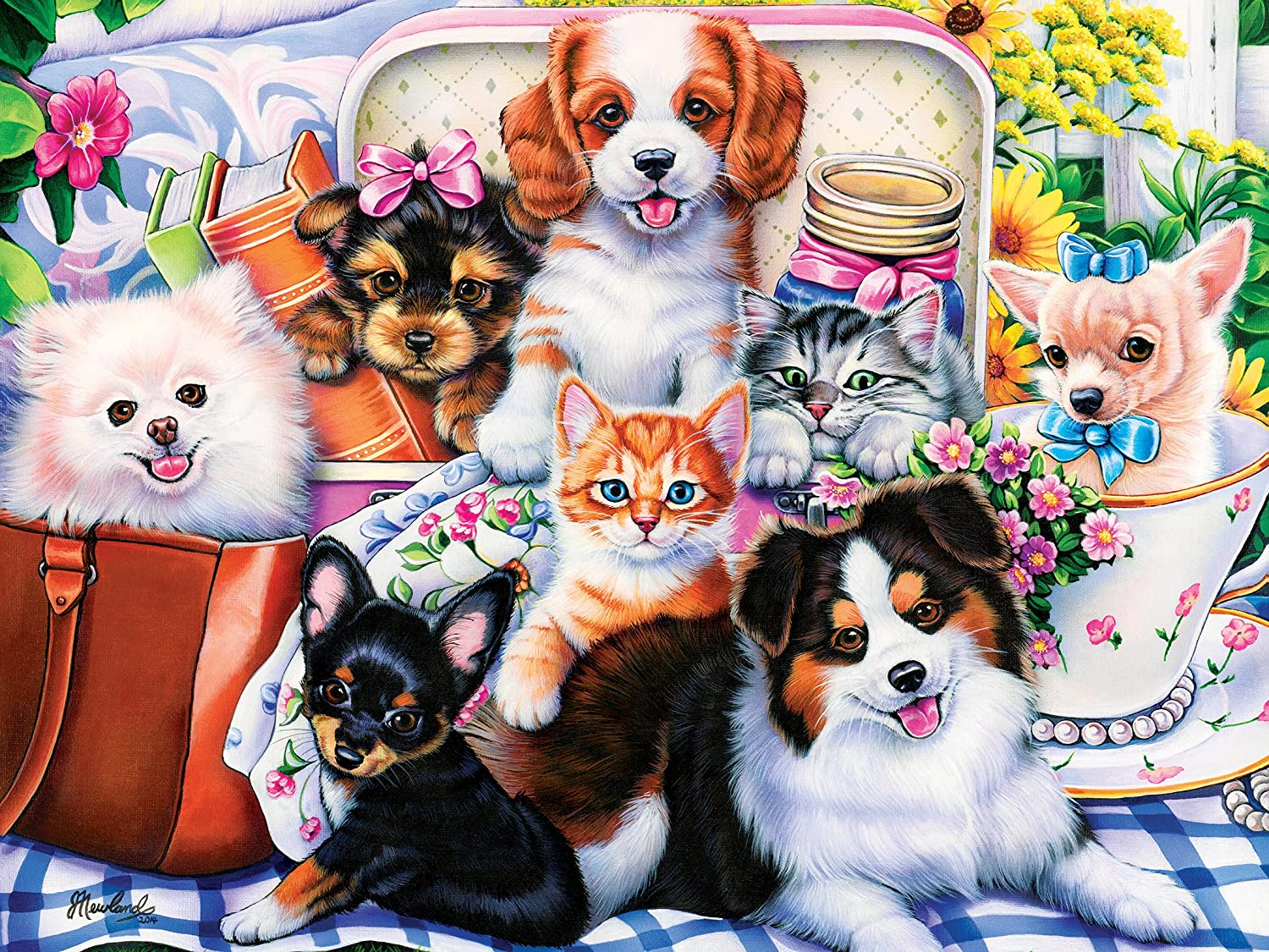 Cardinal Kids 48pc Adorable Kittens and Puppies Puzzles