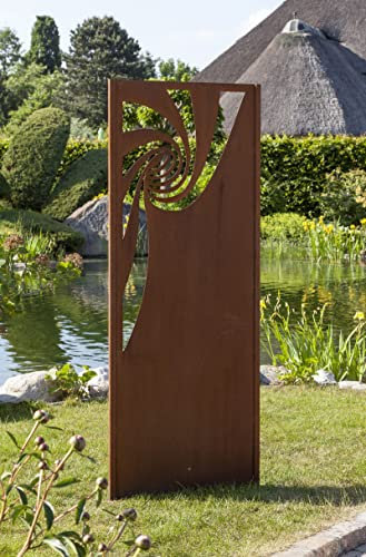 Gartenwand Sichtschutz Spirale Rost Stahl 75x195 Cm Amazon De Handmade