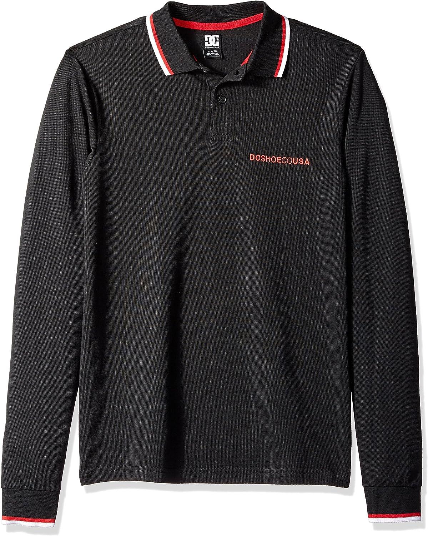 DC Mens Lakebay 2 Long Sleeve Polo Tee Shirt