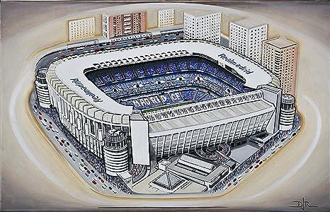 PINTURA al óleo Original del Bernabéu - Real Madrid CF ...