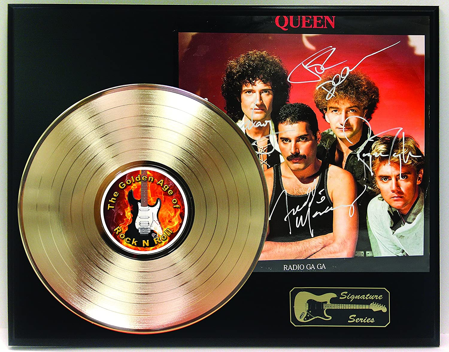 Queen Gold LP Record Reproduction Signature Series Limited Edition Display