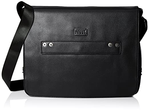 c275a08b2b77 Amazon.com  Armani Jeans Men s Deerskin Look Embossed Messenger Bag ...