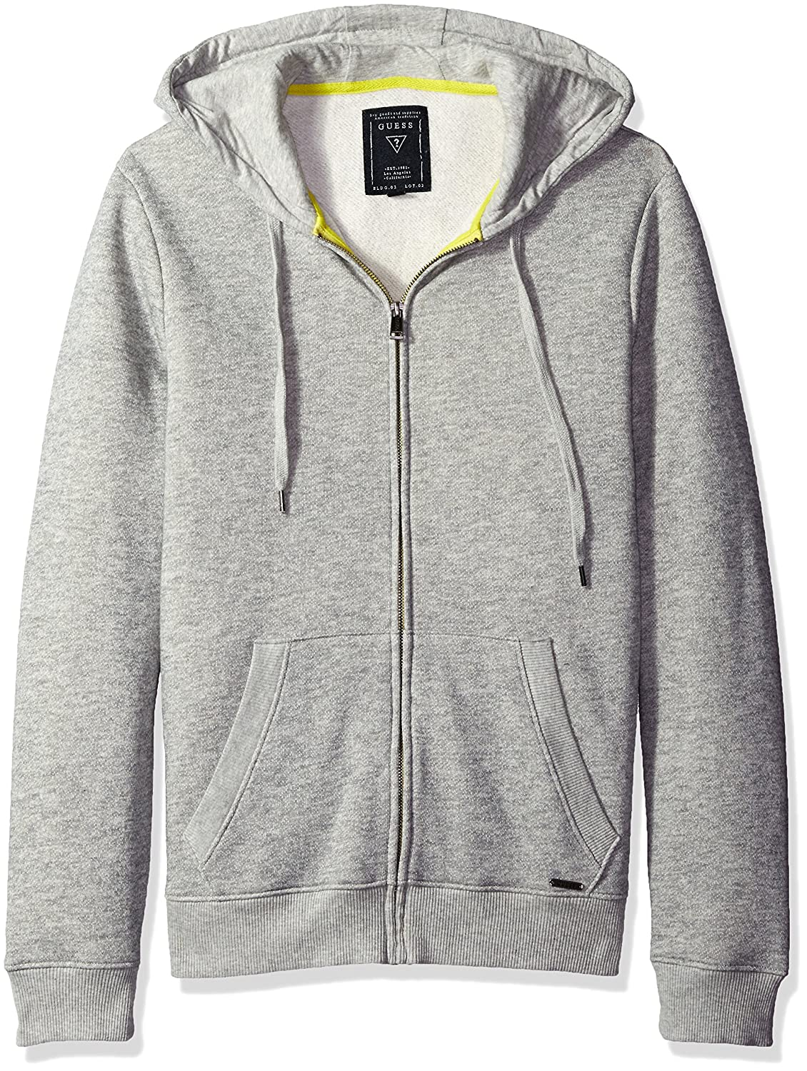 durable modeling GUESS Men\'s Lux Brushed French Terry Hoodie ...