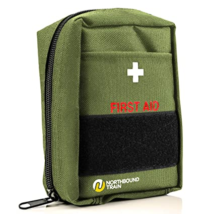 fcf81daf819 Amazon.com: Northbound Train First Aid Kit, Fully Stocked - IFAK - Premium  Contents for Tactical First Aid, Camping, Travel, and Hiking: Sports &  Outdoors