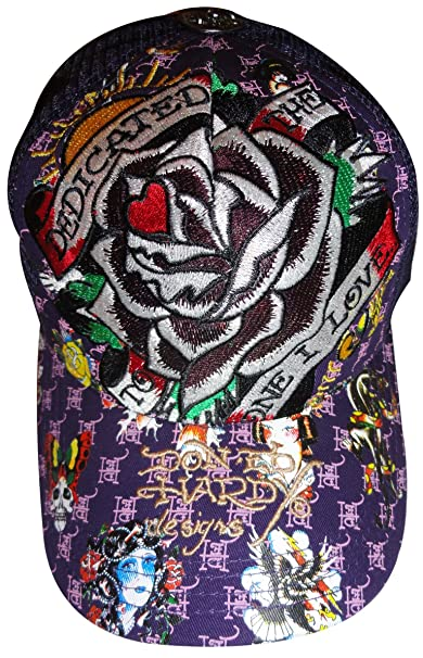 d0f0a1e584287 Men s Ed Hardy Hat Baseball Cap Dedicated to the One I Love Purple   Amazon.ca  Clothing   Accessories