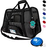Premium Airline Approved Soft-Sided Pet Travel Carrier by PetAmi   Ventilated, Comfortable Design with Safety Features   Ideal for Small to Medium Sized Cats, Dogs, and Pets