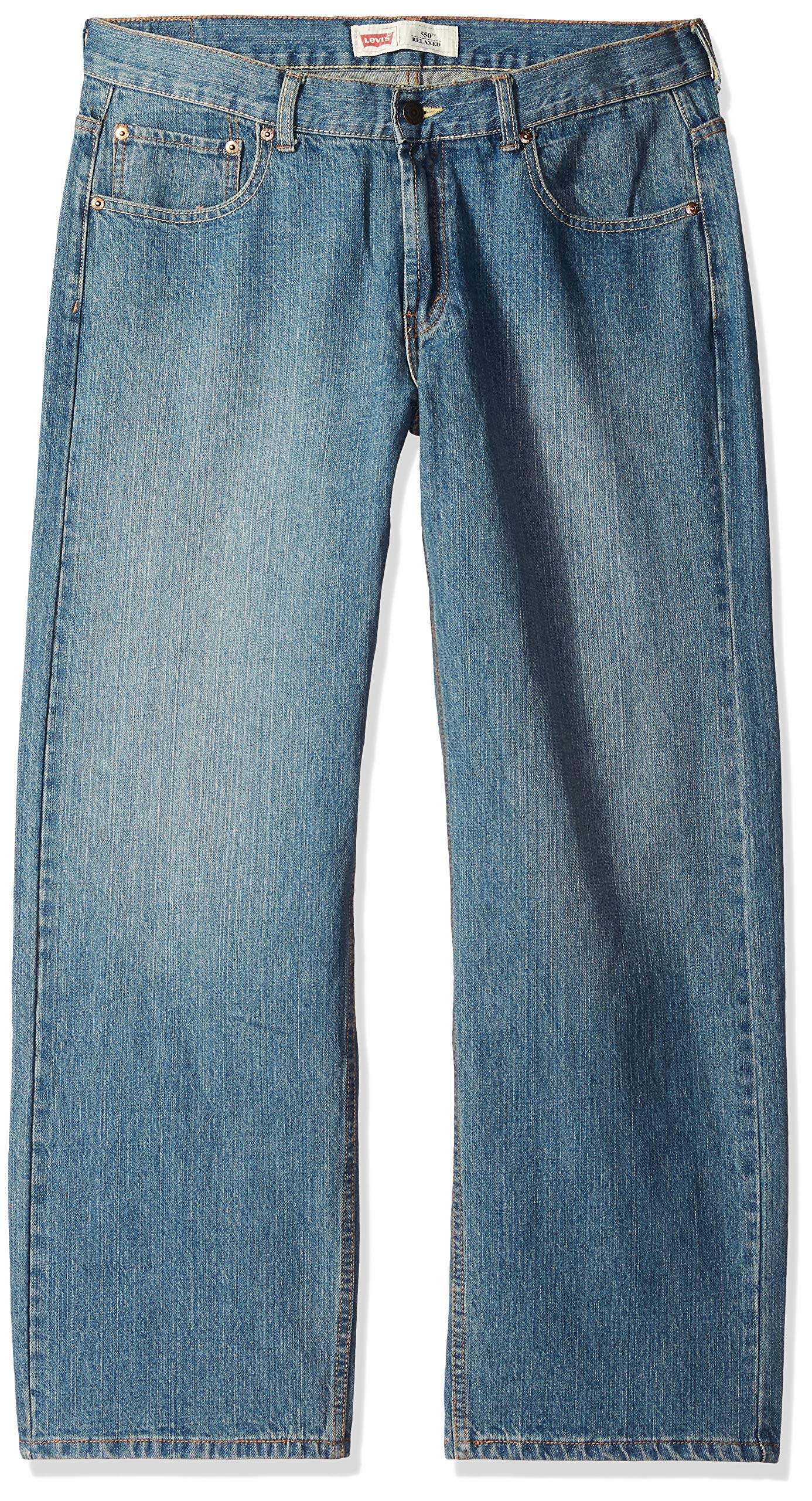 Levi's Boys 8-20 550 Relaxed Fit Jean, CLEAN CROSSHATCH, 14 Regular