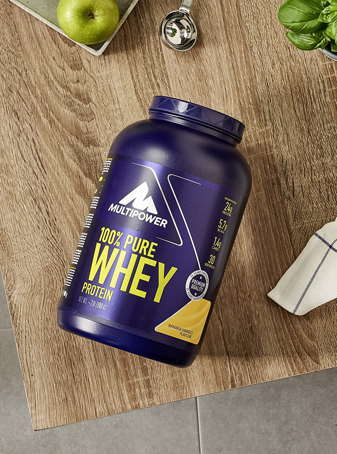 Multipower - 100 Pure Whey Protein Banana 900 gr, color 0