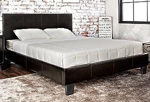 Furniture of America Rhinox Leatherette Platform Bed, California King, Espresso