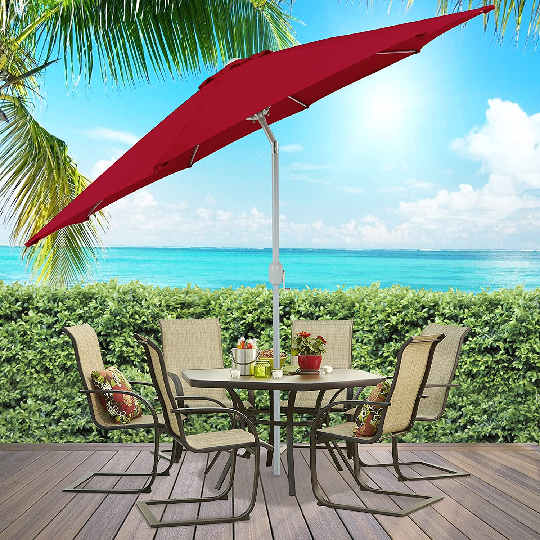 Amazon.com : Best Choice Products Patio Umbrella 9\' Aluminum Patio ...