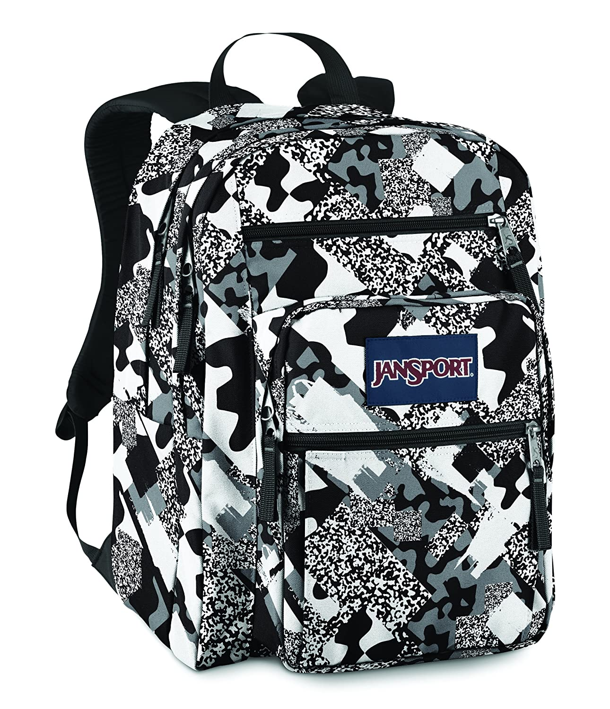 Jansport Big Student Backpack Black / White Camo