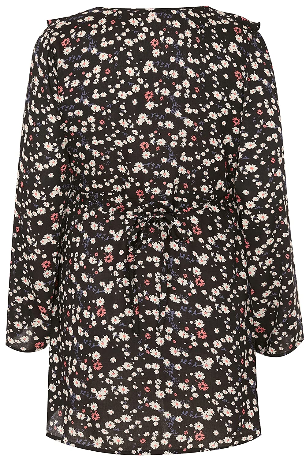 36ce7c8c0b8a5 Yours Women's Plus Size Bump It Up Maternity Black & Multi Floral Ruffle  Wrap Top with: Amazon.co.uk: Clothing