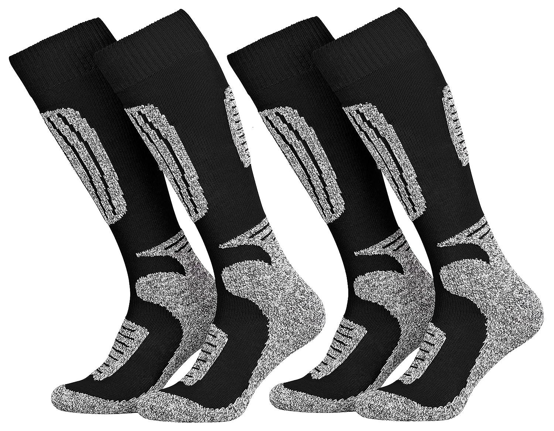 Tobeni 2 Paar Skisocken Snowboard Socken für Damen und Herren in 4 Farben