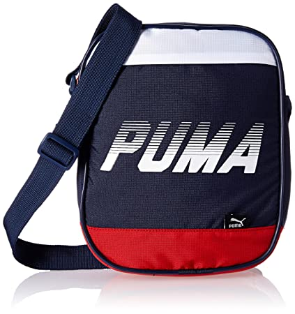 a9fa37fa223a Puma 4 Ltrs Peacoat and Barbados Cherry Messenger Bag (7415502)  Amazon.in   Bags