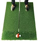 StrikeDown DT Pro Golf Mat | 3 x 4 Feet Fairway and Rough Grass Hitting Mat for Indoor and Outdoor Practice | Free Practice Balls and Free Two-Day Shipping