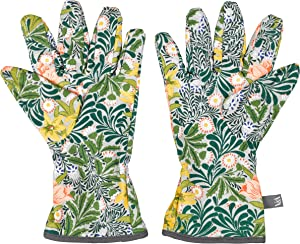 V&A VA038 William Morris 100% Cotton Gardening Potting Hand Gloves, One Size, Green