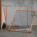 EZGoal 87615 EZ Goal Official Regulation Folding Metal Lacrosse Goal with Throwback Kit - 6' x 6'