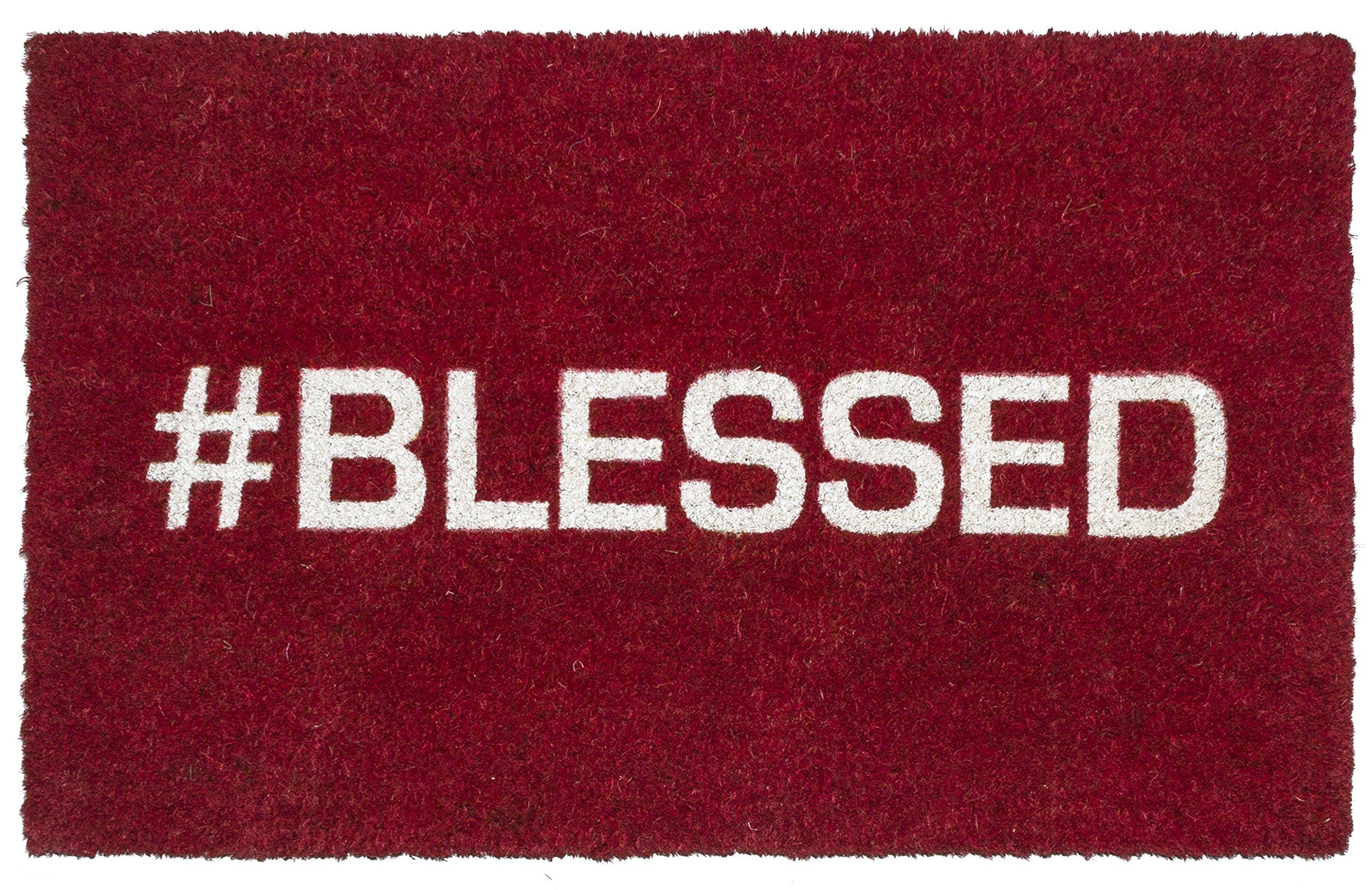 Entryways Blessed Non- Slip Coconut Fiber Doormat 17'' X 28'' X .5''