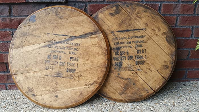 Amazoncom Authentic Jack Daniels Whiskey Barrel Head Lid Handmade