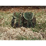 Lot of 2 GI Woodland Camo MOLLE Canteen Carriers/Utility Dump Pouches, Made in USA
