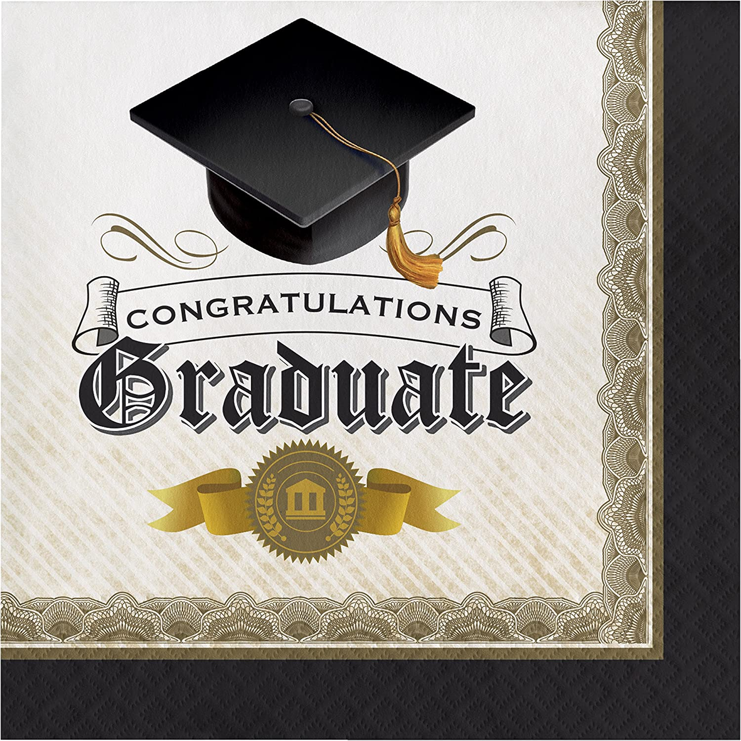 Serves 8 Plates Napkins Cups Invites Thank You and Decor 2018 Graduation Party Supply Bundle