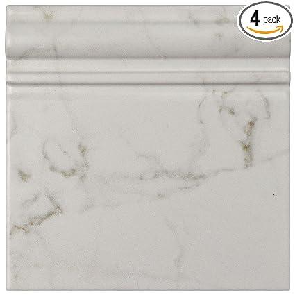 SomerTile WEQCRMBT Murmur Carrara Skirting Base Ceramic Wall