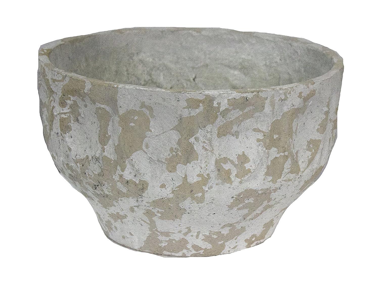 Sagebrook Home 11457 Antiquity Bowl, Bone Mache, 12 x 12 x 7.5 Inches