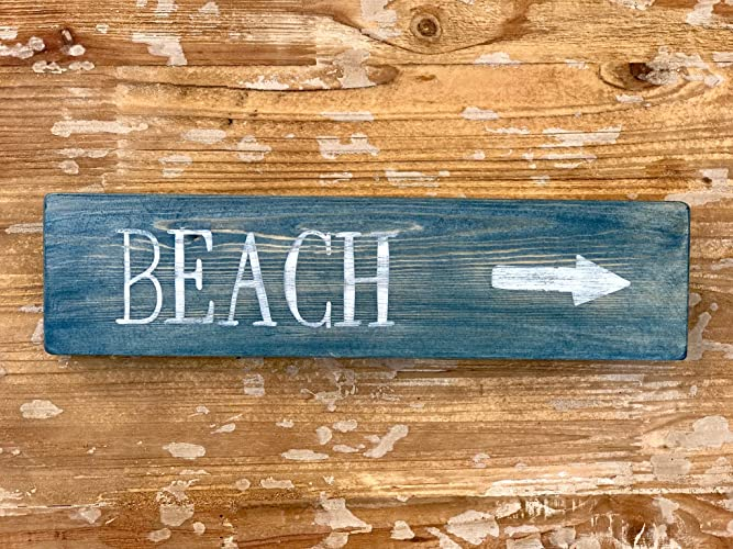 Amazoncom Beach Sign Distressed Beach Decor Rustic Beach Decor