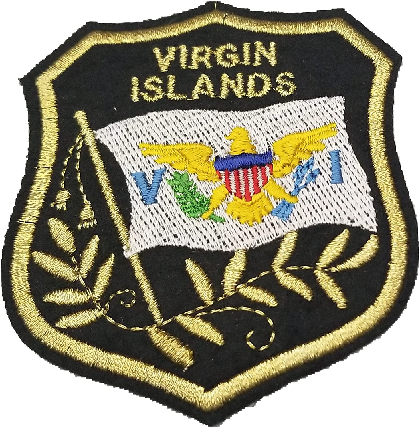 """U.S VIRGIN ISLANDS FLAG 2 1//2/""""  Iron On Embroidered Patch"""