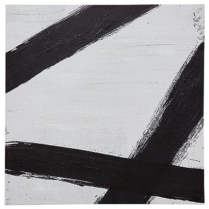 Rivet modern black line print on canvas 30 x 30