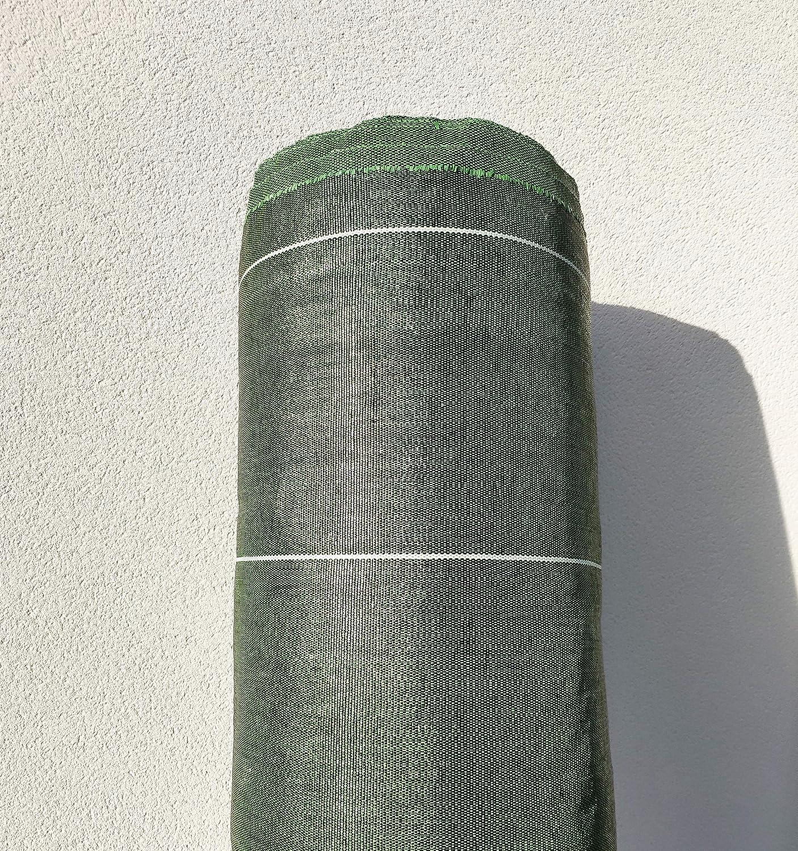 130g//m2 Toile Bache de paillage tiss/ée Anti-Mauvaises Herbes Largeur 1,28m Longueur 25m