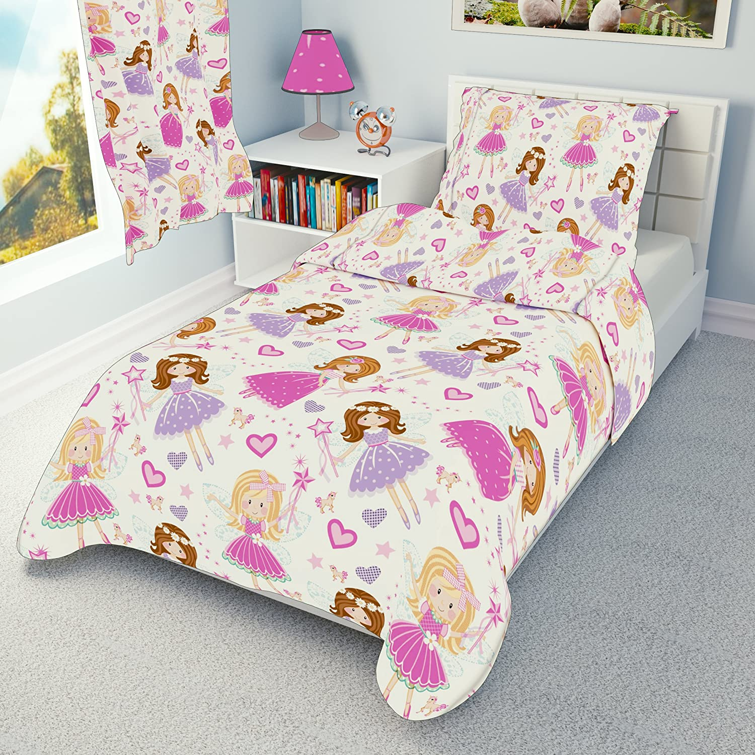 Babies Island IKEA Cot Bedding Duvet Cover Pillowcase 110 x 125 cm - many designs available (Fairies With Unicorns) Babies-Island