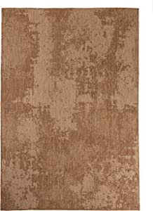 Furnish My Place Outdoor Collection Vintage Faded Rug - 7 ft. 10 in. x 10 ft. Neutral, Polypropylene Bohemian, Water Proof Rug for Patio, Bedroom