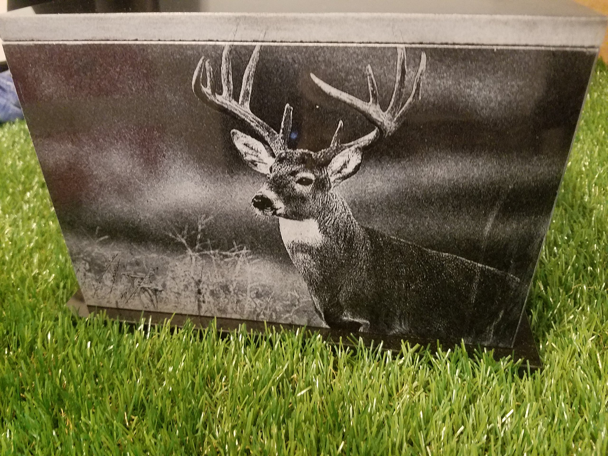 175 CU.In Human Granite Urn Engraved Deer Hunting Bass Fishing by The Memories Collection (Image #3)