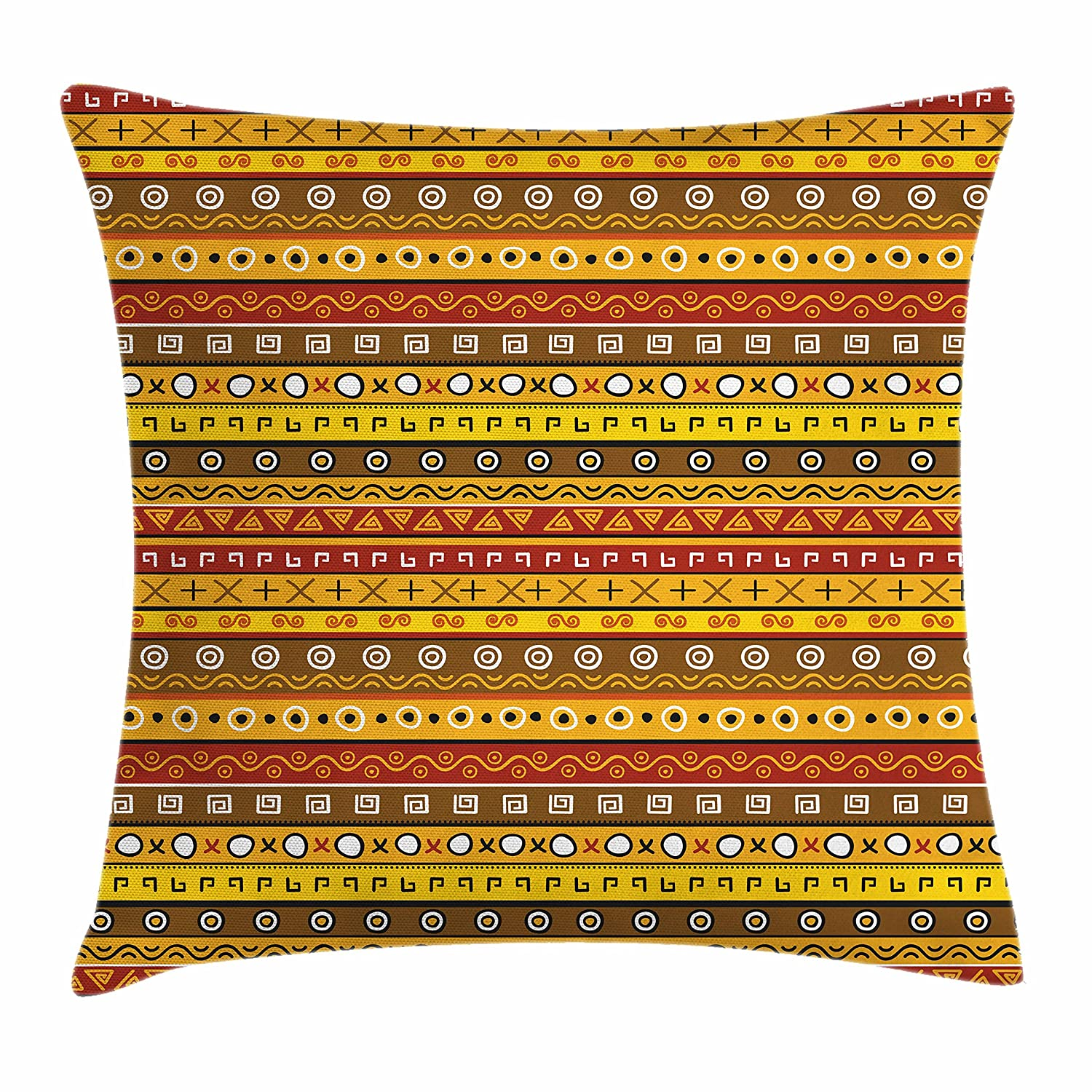 Decorative Square Accent Pillow Case 16 X 16 Inches Puffers Toadfish Childish Fish Family with Folk Art Patterns Children Nursery Decor Ambesonne Funny Decor Throw Pillow Cushion Cover Multi min/_18492/_16x16
