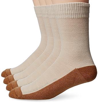 f9eb2482b794 Copper Sole Men's 4 Pack Solid Dress Crew Socks, Khaki, Shoe Size: 7-12 at  Amazon Men's Clothing store: